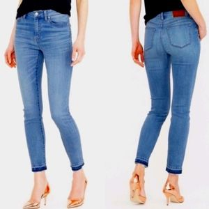 J. Crew Lookout High Rise Skinny Crop Fray